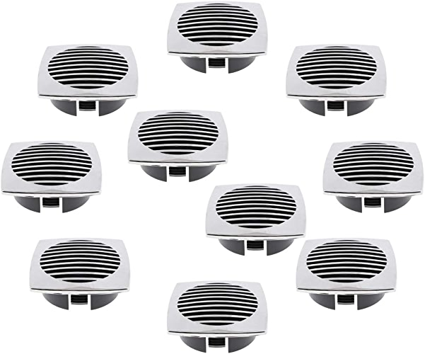 H HILABEE Paquet De 10 Couvercles De Grilles D'aération à Circulation d'air en Acier Inoxydable De 76 Mm (3 Po) pour RV Marine 81932SS-HP