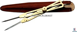 NauticalMart Solid Brass Proportional Divider 9 inch with Leather Case