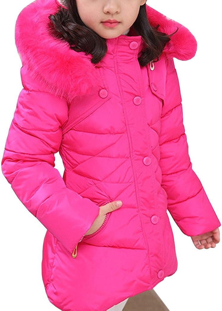 AnKoee Little Girls Jacket Girls Kids Coat Windbreaker Outwear Warm Jackets Outwear Winter Clothes for 3-12 Years Old