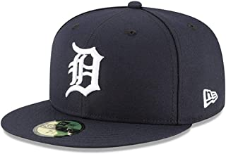 New Era 59Fifty Hat Detroit Tigers MLB Authentic On Field Home Navy Blue Fitted Cap