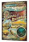 TammieLove Señal de Advertencia de Donigal Railway Vintage Metal Sign 8x12 Pulgadas