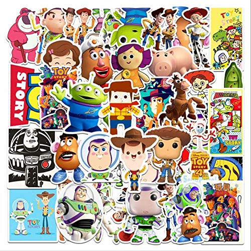 BVCXZ Toy Story Disney Sticker Aesthetical Luggage Refrigerator Piano Guitar Not Repeating Cartoon Graffiti Stickers 53Pcs