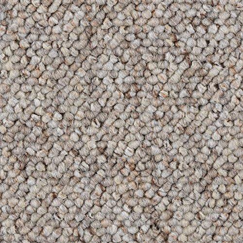 Teppichboden Auslegware Meterware Schlinge beige weiß 200, 300, 400 und 500 cm breit, verschiedene Längen