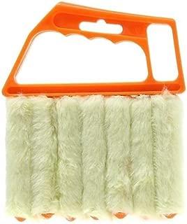 Aremazing Washable Venetian Blind Slat Dust Cleaner Air Conditioner Duster Clean Brush (Orange + Beige)