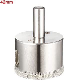 uxcell 42mm Diamond Coated Glass Hole Saw Drill Bits for Ceramic Tile Marble Rock Porcelain