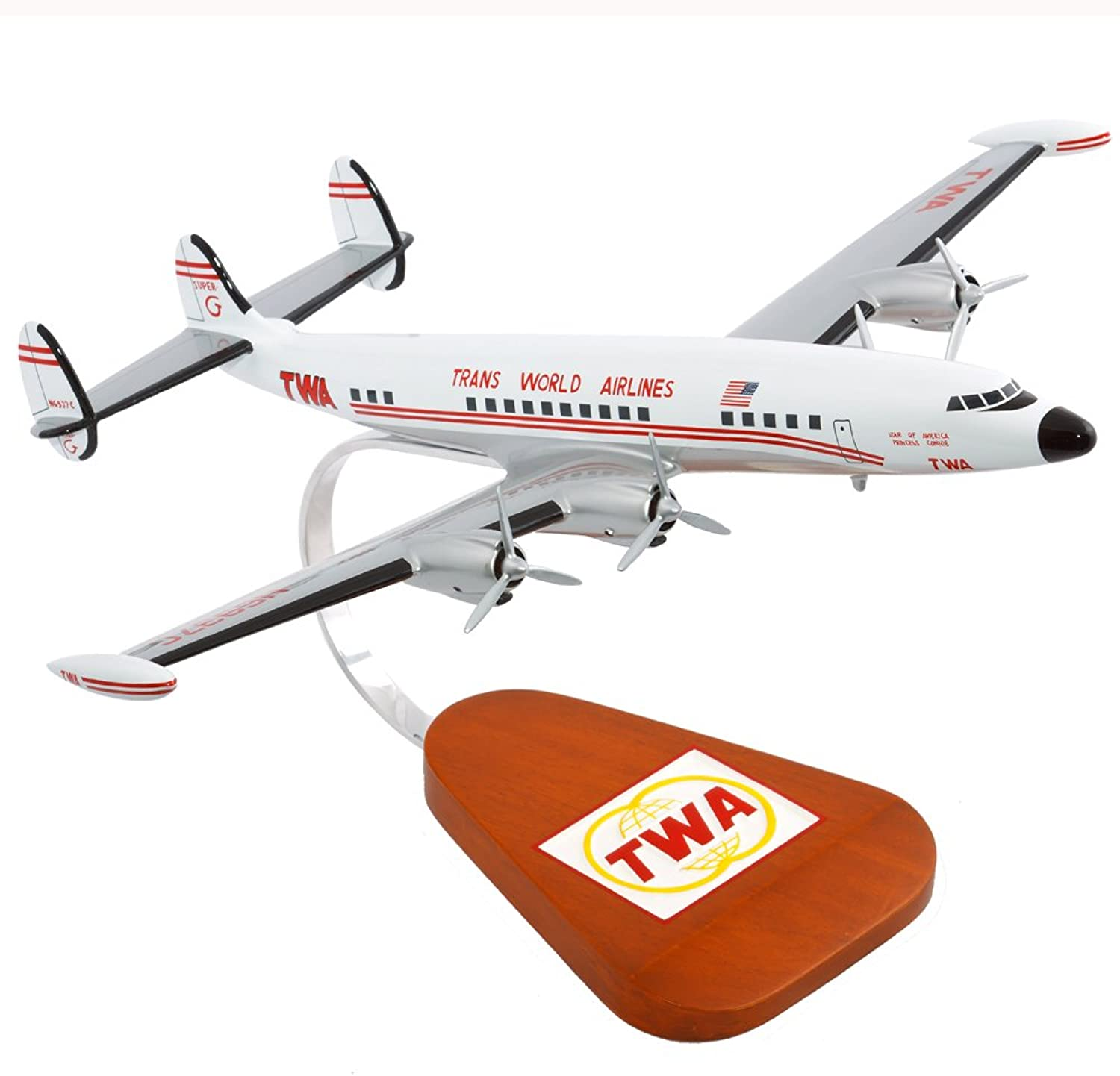 Mastercraft Collection Lockheed Constellation TWA Super G Model Scale 1 85