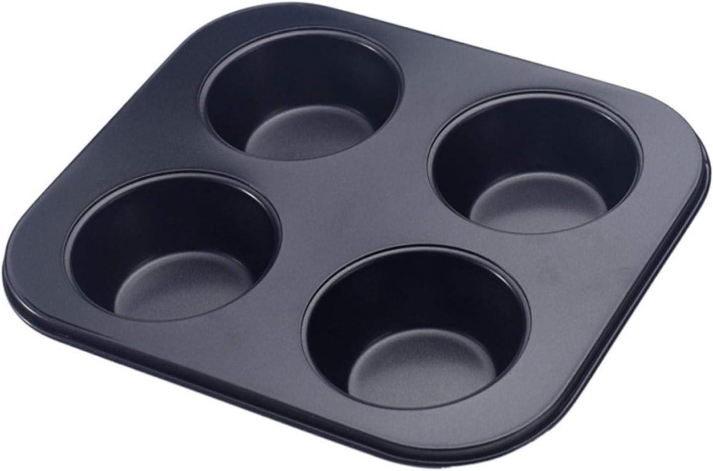 4-Hole Muffin Pan, Bakeware Non-stick Cupcake Baking Pan Mini Pi