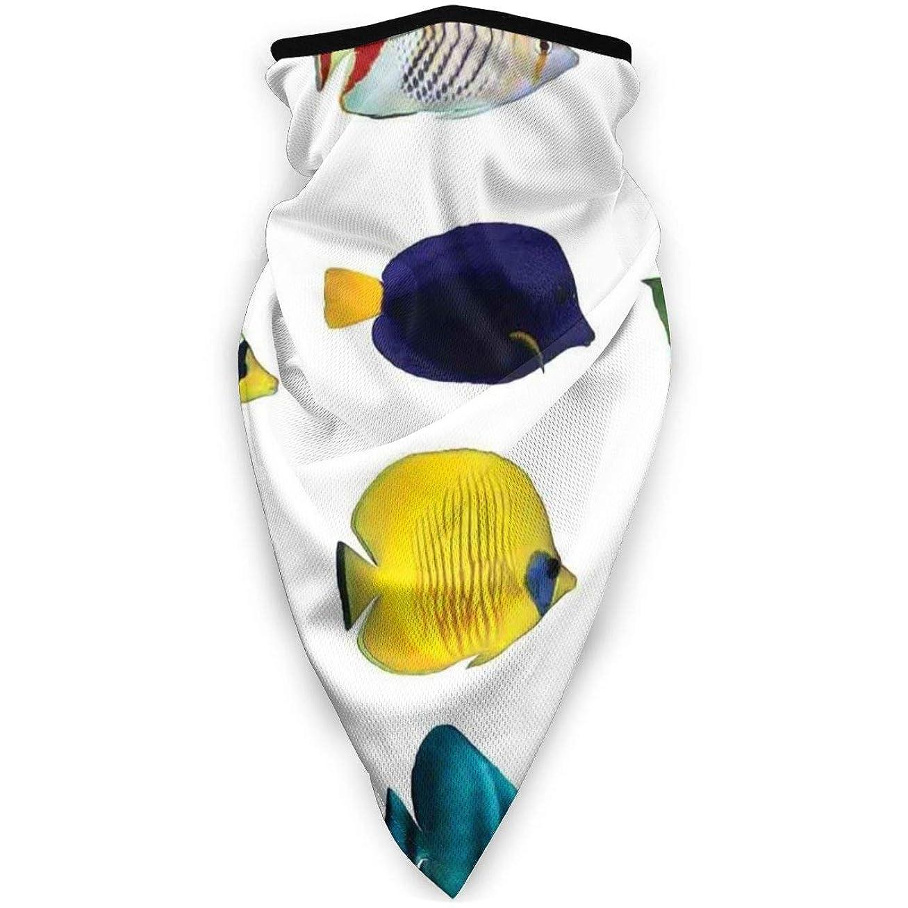 ポンドお手入れノミネートDustproof Washable Reusable Mouth Cover,Tropical Fish Figures With Zebrasoma Anemonefish Dive Nemo Aqua Home Decor,Protective Safety Warm Windproof Mask for Men Women