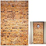 SER EDTY Platform 9 And 3/4 King's Cross Station, Curtains Door for Old-Brown Brick Wall Party Backdrop, Secret Passage To The Magic School, Platform Holloween Party Supplies 78.7'x 49.2' Inch