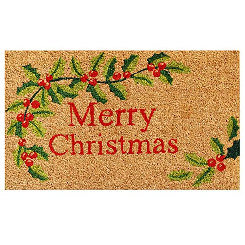 "Calloway Mills 121021729 Merry Christmas Doormat, 17"" x 29"", Multicolor"