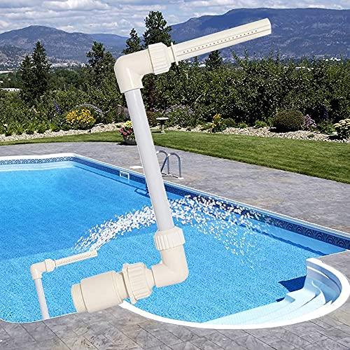 KAMIIN Fuente para Piscina Fuente Cascada, Fuente de Piscina de Cascada de Pulverización de Agua para Accesorios de Piscinas Adapta a Chorros de Retorno de 1.5 Pulgadas en Tierra y sobre el Suelo