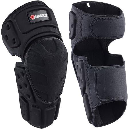 equitaci/ón protecci/ón deportiva Juego de 4 protectores para codos y rodilleras para motocicleta negro Gorgeri negro para ciclismo motocross