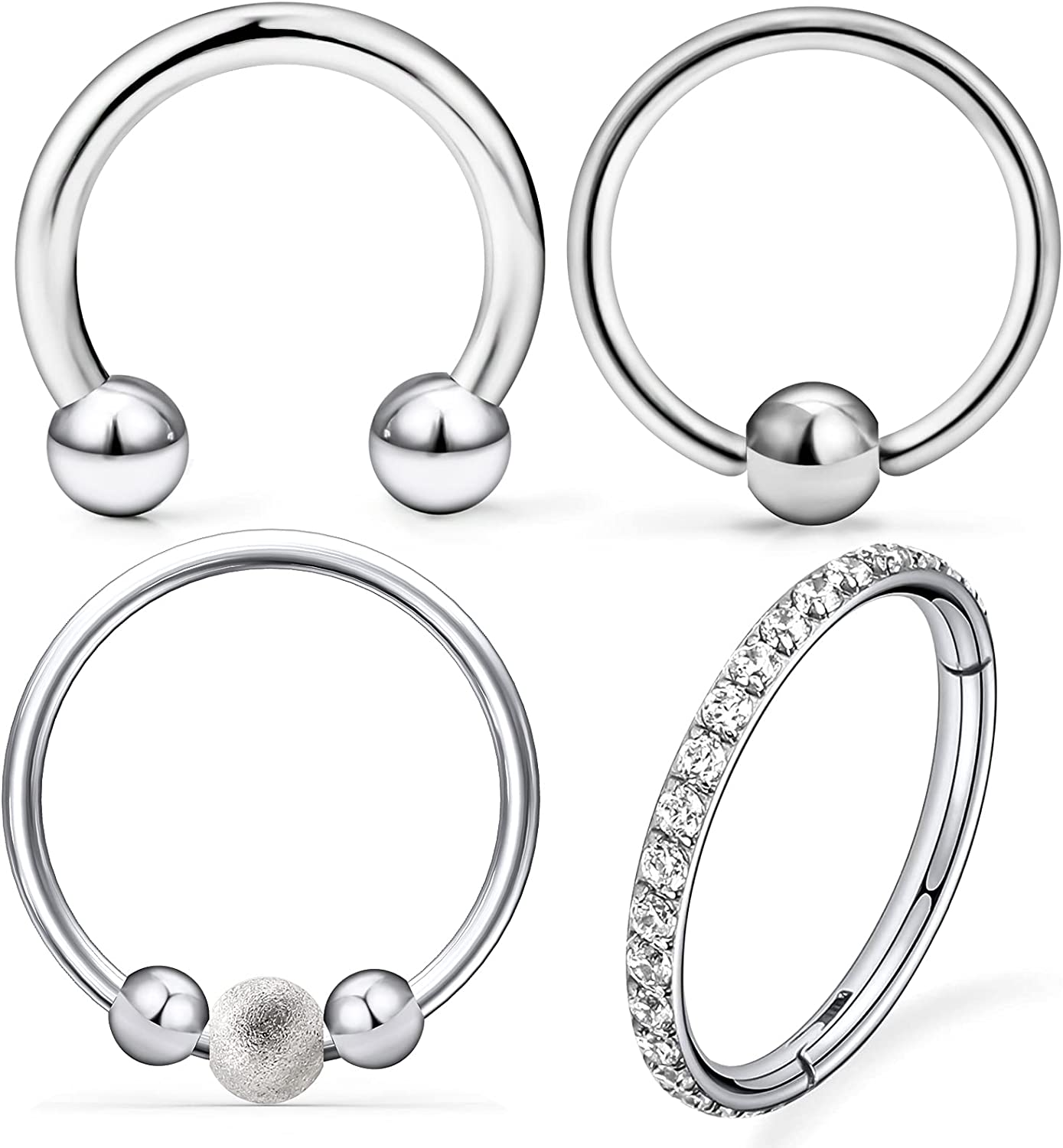 Leiainely Nose Rings for Women Cartilage Earrings Cartilage Earring Hoop Helix Piercing Jewelry Hoop Nose Rings for Women Daith Earrings Nose Rings Hoops Daith Piercing Jewelry Septum Rings Jewelry