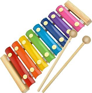 ISO TRADE Barn Xylophon klockspel ljudplattor ostämd motorik träklubbor 6078