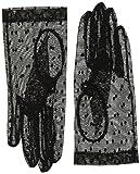 東和コーポレーション 冠婚葬祭用手袋 2wayフォーマルグローブSMサイズ P-005 インナー手袋付でネイルが隠せる レース手袋/ブラック、インナー手袋/ベージュ
