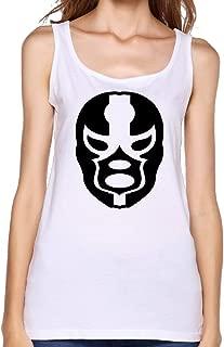 FONY Women's Black Mask Pattern Hollywood Undead Mask Cool Cotton Tank Top Sleeveless T Shirt