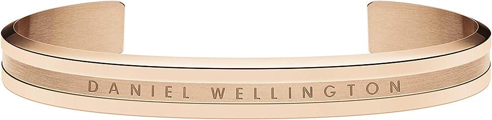 Daniel wellington, bracciale rigido da donna, in acciaio inossidabile (316l) con placcatura in oro rosato DW00400140