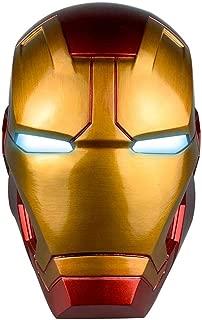 XXF Iron Man Electronic Helmet - PVC Iron Man Full Head Helmet with Eyes LED Glowing Halloween Cosplay Prop for Adult.