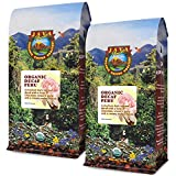 Java Planet, Organic Coffee Beans, Decaf Peru Single Origin, Gourmet Medium Dark Roast of Arabica Whole Bean Coffee, Water Processed Decaffeinated, Certified Organic, Two 1 LB Bags