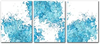 hdbklhjxk Dream Blue Water Flower Beautiful Artistic Painting Nordic Canvas Picture Living Room Wall Artwork Home Decor Poster and Prints 40x60cmx3 Sin Marco