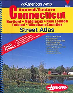 American Map Central/Eastern Connecticut Street Atlas: Hartford, Middlesex, New London, Tolland, Windham Counties