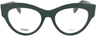 Luxury Fashion | Fendi Womens FF02731ED18 Green Glasses | Season Permanent