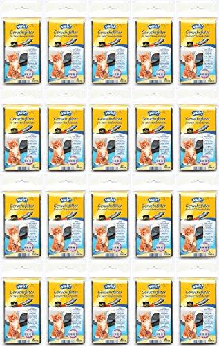 Swirl 20 Päckchen Geruchsfilter für Katzentoiletten mit Aktivkohle 12 x 7 cm Aktivkohlefilter