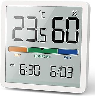 Noklead Termómetro Higrómetro digital portátil, termómetro e higrómetro interior con alta precisión, temperatura y medició...