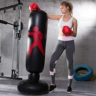 LonEEDY - Saco de boxeo hinchable de pie para adultos y