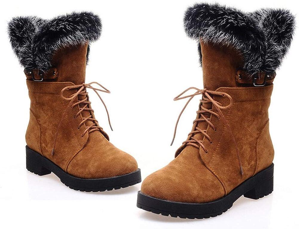 Vimisaoi Women's Platform Winter Snow Cross Atlanta Mall safety Straps Buckle Boots