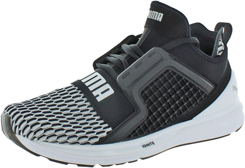 Puma Mens Ignite Limitless Colorblock Running Shoes - Puma Black-Puma White Size 10 B01LYYQ55E  | Schnelle Lieferung