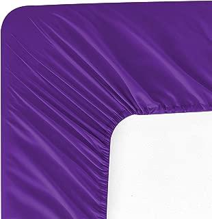 Wavva Bedding Modern Solid Color Fitted Sheet - 1800 Hotel Collection Deep Pocket Brushed Velvety Microfiber (Full, Prism Violet)