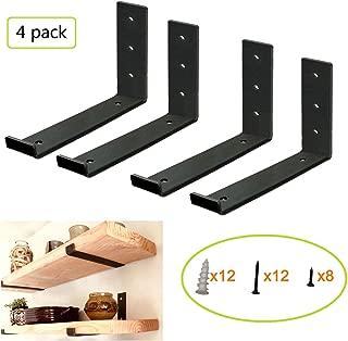 Shelf Brackets for Shelves, Hook Iron Heavy Duty Shelf Brackets, J Bracket, Metal Shelf Bracket, Industrial Shelf Bracket, Modern Shelf Bracket.(9.25