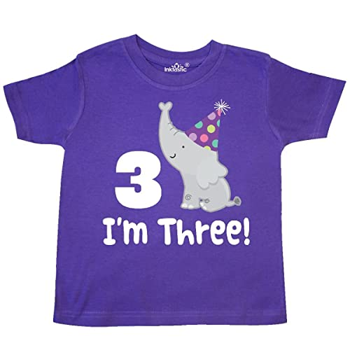 f034e276 inktastic - 3rd Birthday Zoo Elephant Childs Toddler T-Shirt 29aff