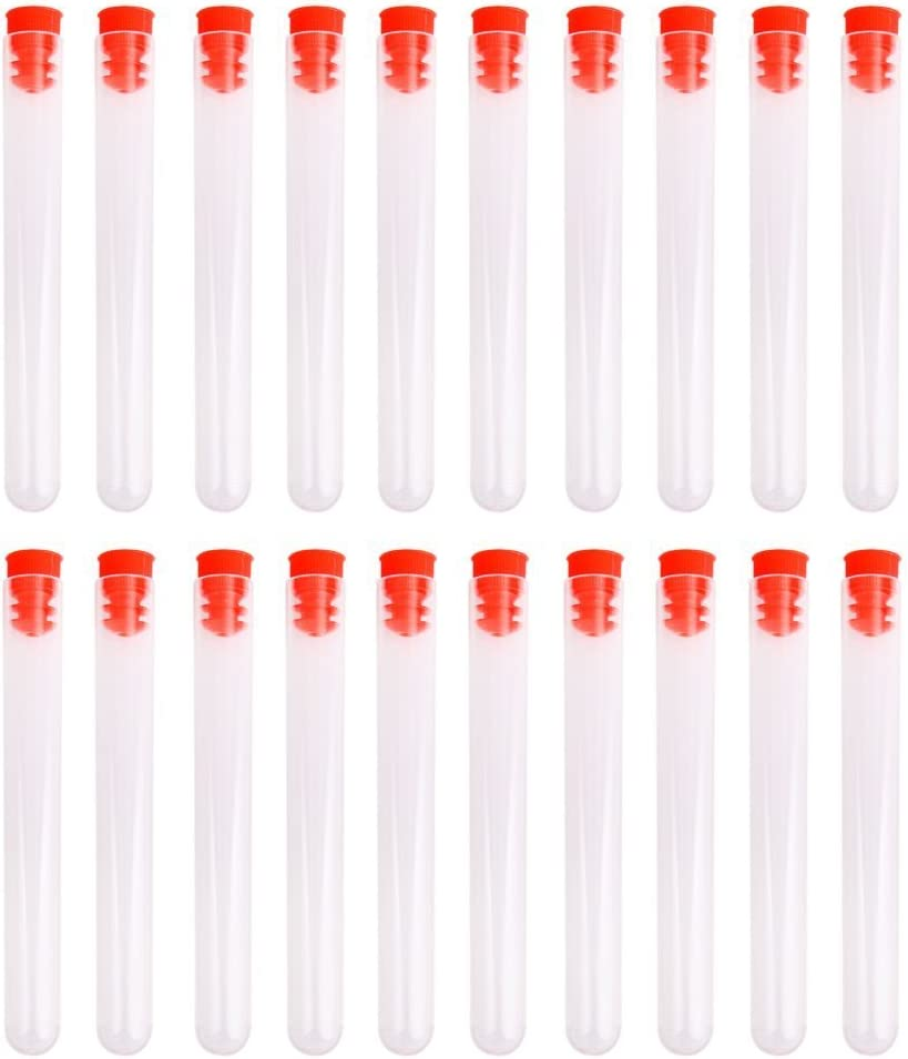 Reservation WINOMO Fort Worth Mall 20pcs Plastic Test Tubes Caps with Screw 10012mm
