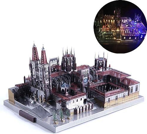 GJQASW 3D Puzzle, Burgos Kathedrale geb e Modell kit Spielzeug 3D Puzzle Spiele Kinder Erwachsene lehrgeschenke einfach zu montieren Spaßen hauptdekorationen