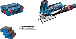 Bosch Professional scie sauteuse GST 160 CE (800 W, avec adaptateur d'aspiration, capot de protection, 3 lames, 3 éponges,...