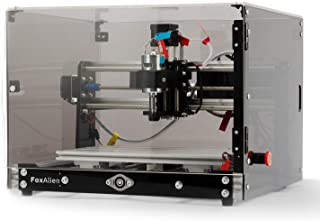 Desktop CNC Router Machine 3018-SE V2 with Transparent Enclosure, 3-Axis Engraving Milling Machine for Wood Acrylic Plasti...