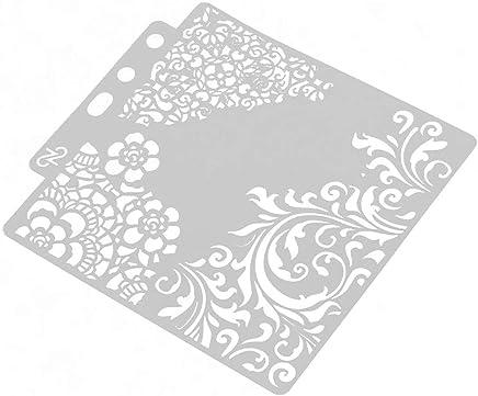 Scrapbooking Dor/é//argent/é Anjing Lot de 10 Cartes paillet/ées en Papier cartonn/é pour Loisirs cr/éatifs