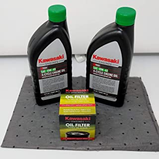 Kawasaki Genuine 49065-0721 Oil Change Kit w/Oil pad and 10W-40 Oil