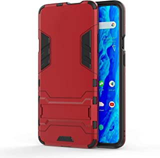 TenYll Case for Vivo Y15/Y17,TPU&PC Hybrid Armor Case Removable 2 in 1 Rugged Double Case,Built-in Kickstand, Cover for Vivo Y15/Y17 -Red