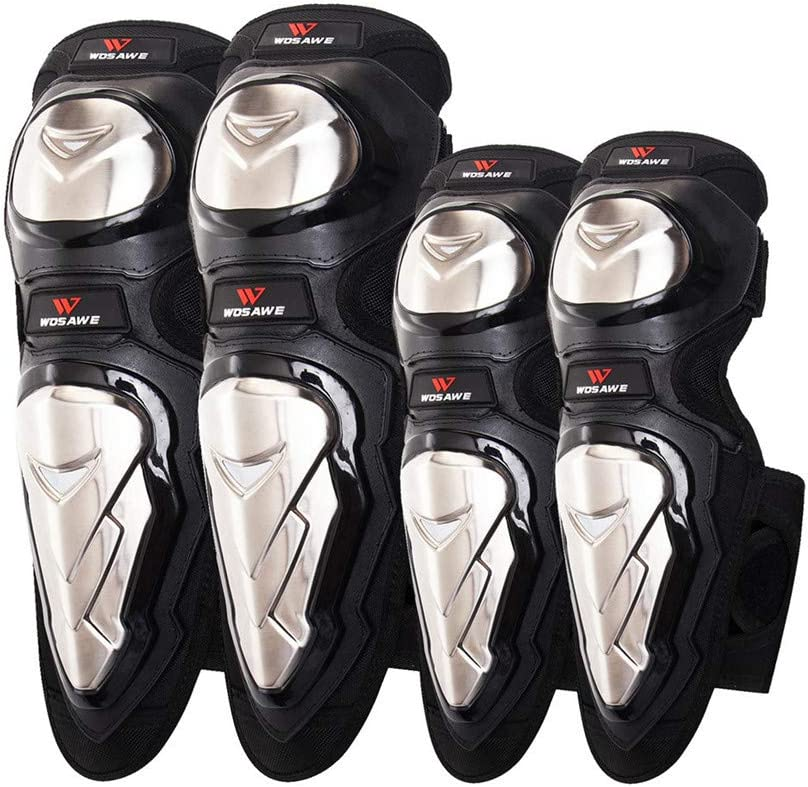 WOSAWE Motorcycle Knee 25% OFF Guards Elbow Selling Pads MTB Steel Cycling Alloy
