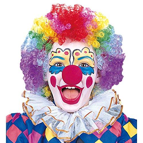 NET TOYS Perruque de Clown colorée pour Enfant Perruque de Clown coloré Clown Perruque Perruque de Clown Couleurs Perruque de Carnaval Perruque pour Enfant