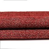 McAlister Textiles Herringbone Tweed | Stoff als Meterware in Rot 140cm Breite | per Meter | traditionelles gewobenes Fischgräten-Muster | Textil für Polster, Kissen, Vorhänge