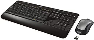 Logitech MK520 Wireless Keyboard and Mouse Combo — Keyboard and Mouse, Long Battery Life, Secure 2.4GHz Connectivity (Rene...