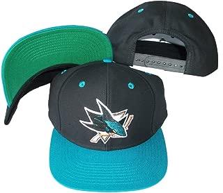 San Jose Sharks Black/Teal Two Tone Snapback Adjustable Plastic Snap Back Hat / Cap