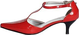 Women's Handmade Kitten Heel T-Strap Shoes
