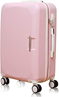 GLJJQMY 20 Inch Password Box 22 Inch Female Suitcase Trolley Case Suitcase Boarding, Pink Trolley case (Size : 22inch)