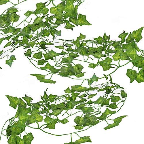 15 Artificial Ivy Leaf Garlands | Vines for Decoration | Fake Ivy Foliage | Wedding Party Decorations | Prop Vines | Pukkr