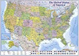 XXL USA Map Premium Poster Giant America Map with all States 55' x 39' MAPS IN MINUTESÙ (55'x39')